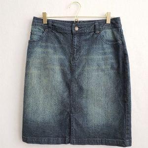 Denim Pencil Skirt Size 8